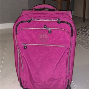 Kippling pink luggage